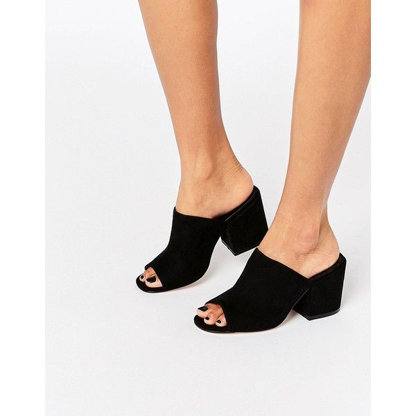 f51700649ce ASOS HIGHLAND Heeled Mules (71 AUD) ❤ liked on Polyvore featuring shoes