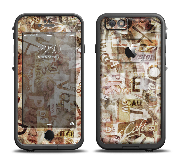 The Faded Torn Newspaper Letter Collage Apple Iphone 6 6s Plus Lifeproof Fre Case Skin Set Lifeproof Case Letter Collage Apple Iphone