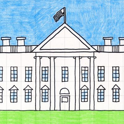 Draw The White House Art To Try House Drawing For Kids