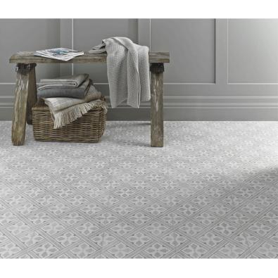 Floor Tile Laura Ashley The Heritage Collection Mr Jones Dove Grey 331 – Essential Tiles