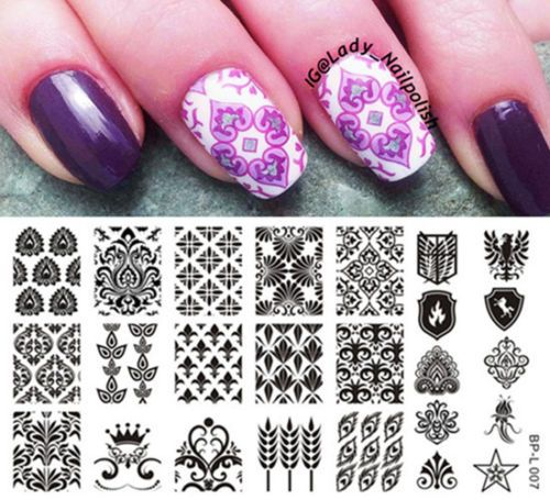 Vintage Style Nail Art Stamp Stamping Template Image Plate BORN - stamp template