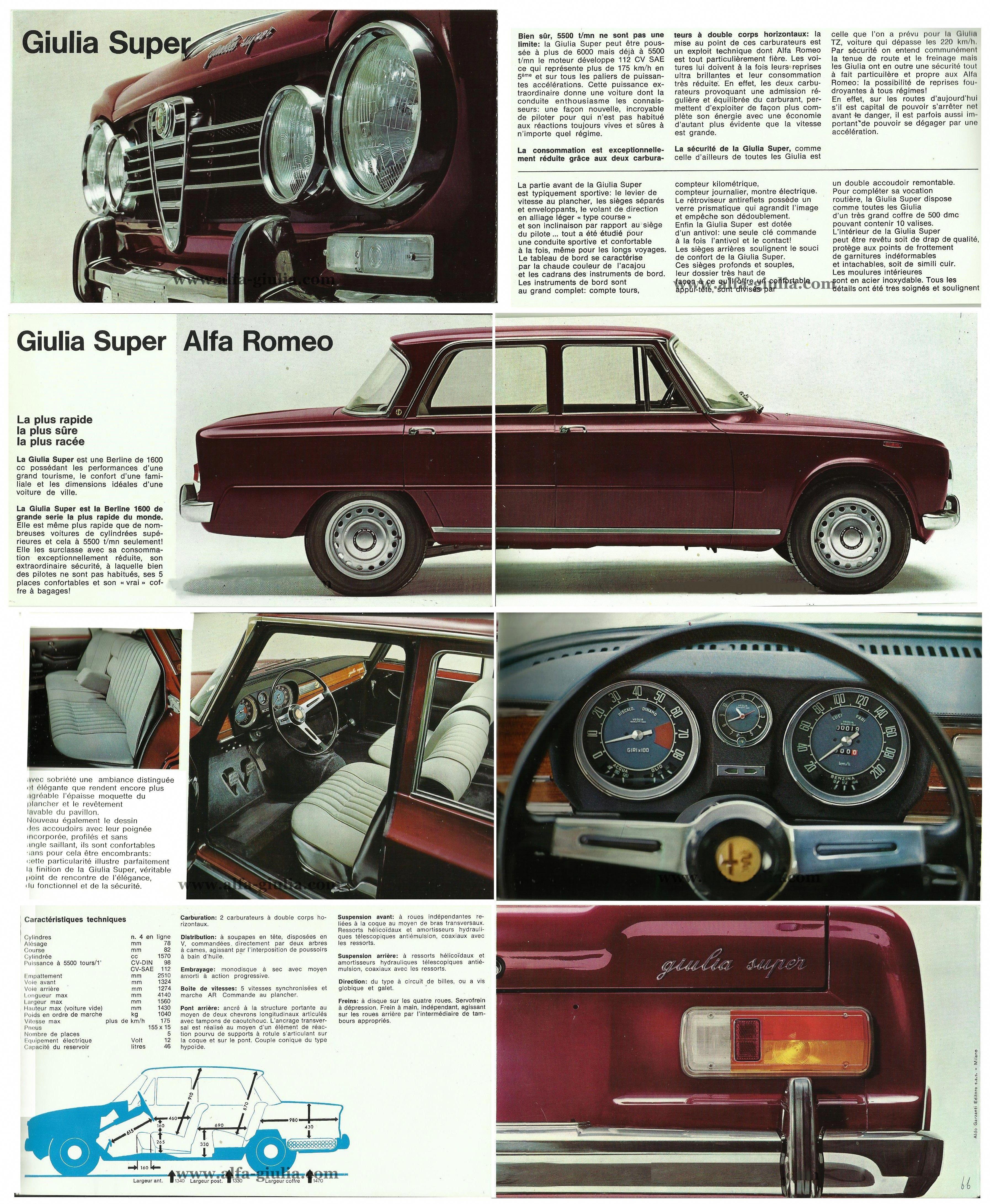 BROCHURE GIULIA SUPER 1969 #Lamborghini