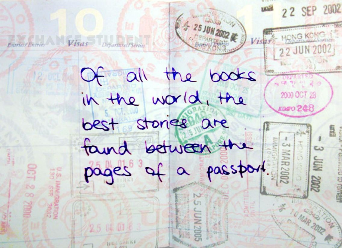 Let's get a lot of stamps! #exchange #student #travel #year #usa #abroad #true #fun #friends #best #quotes