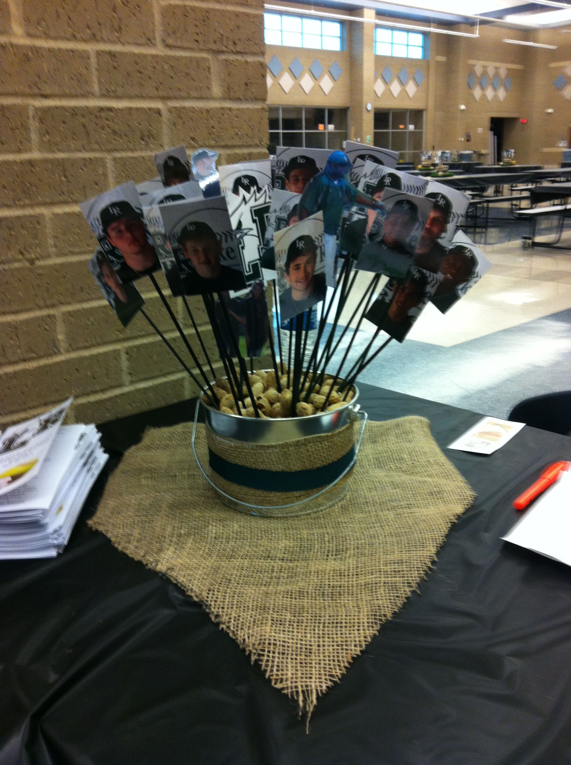 Baseball banquet decorations pinterest