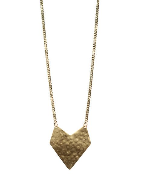 One Oak | Jewelry Hammered Brass Necklace Caterina #oneoak #jewelry #necklace