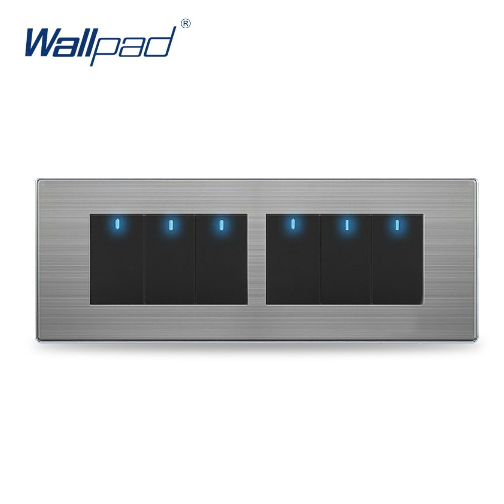 Wall Light 6 Gang 2 Way Switch Hot Sale China Manufacturer Wallpad