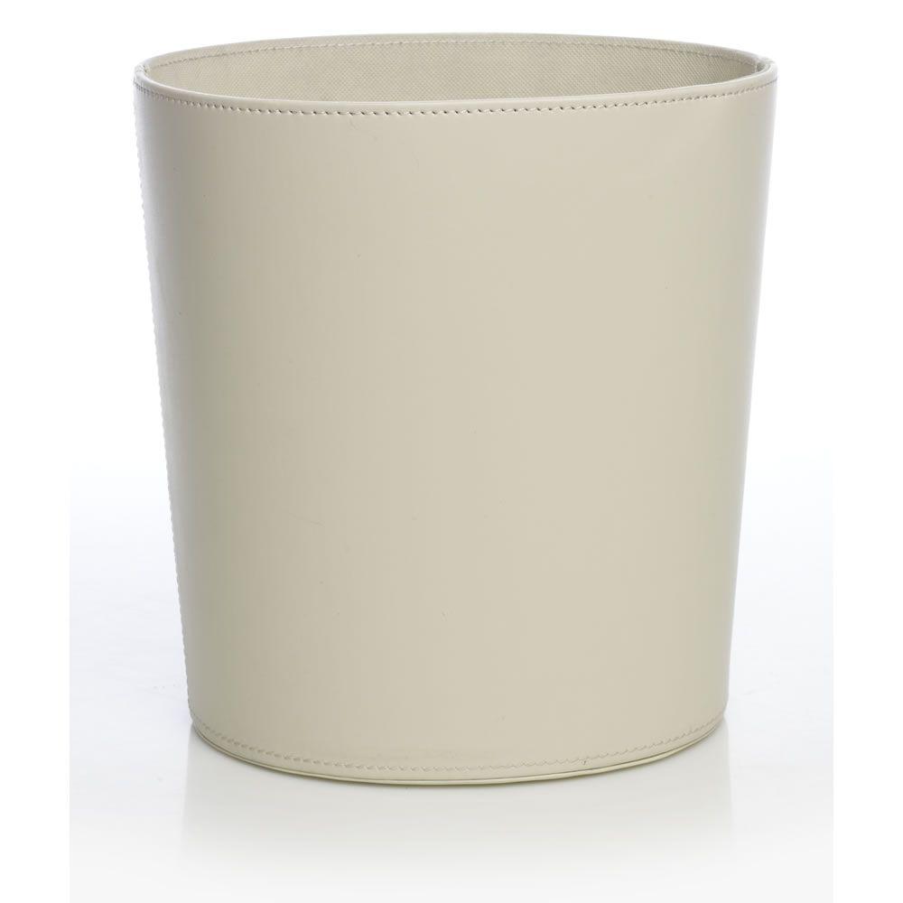 Wilko Faux Leather Waste Paper Bin Cream at wilko.com | OS&E ...