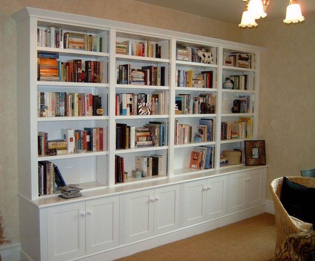 Large Bookcase Home Library Design Rattan Armchair Black Sofa Cushions