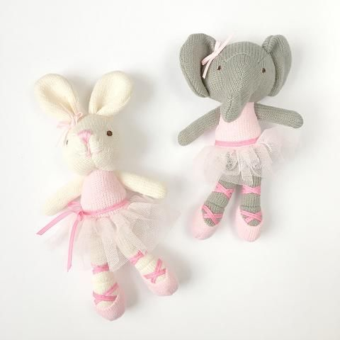Knit ballerina rattles bunny and elephant from mudpie easter knit ballerina rattles bunny and elephant from mudpie easter basket ideas easter gifts negle Gallery