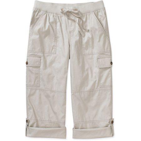 913404ec96f5 Women s Convertible Roll-Cuff Cargo Pants - Walmart.com