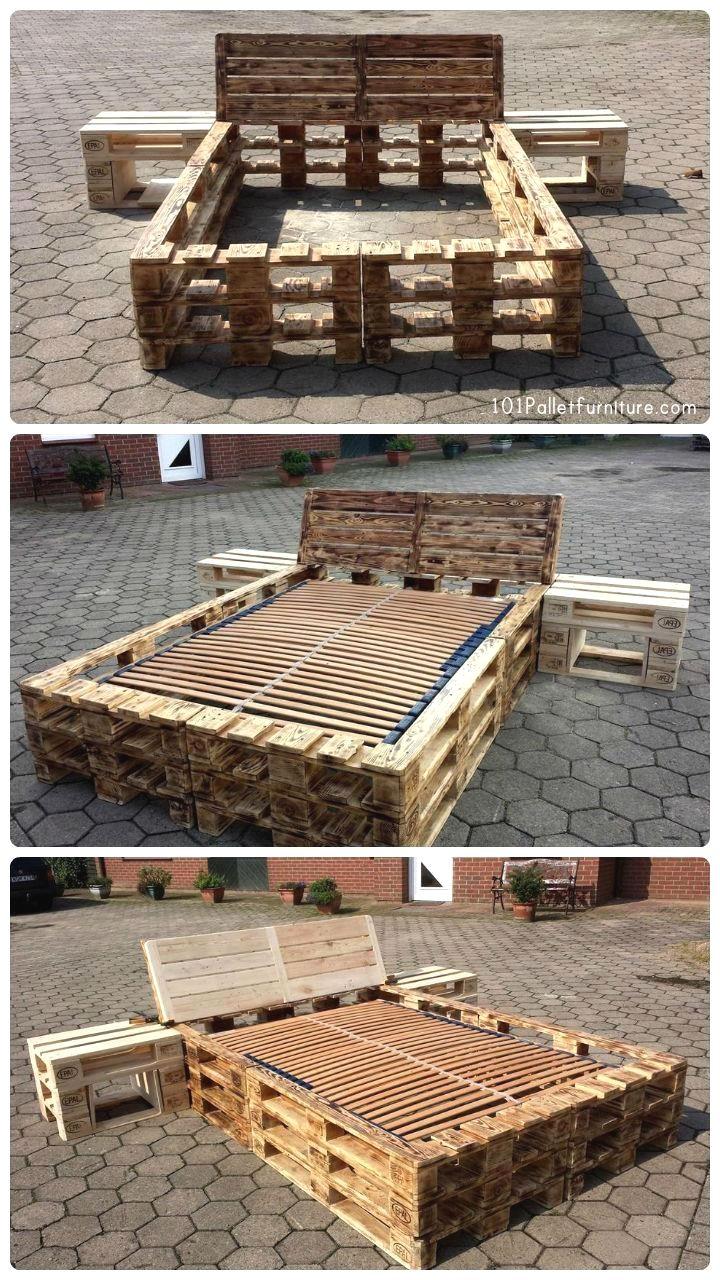 Cheap diy furniture ideas diyfurniture pallet bed frame