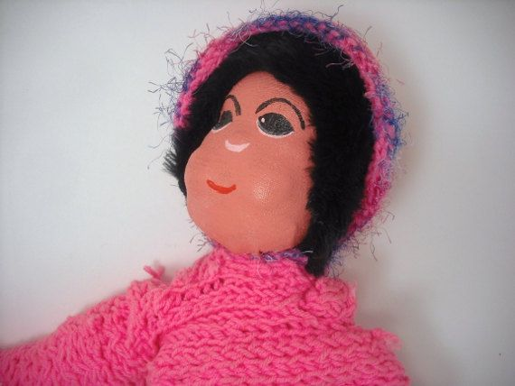 18 21 inch Positively Pink Painted Cloth Doll by BethiefliesToo, $50.00