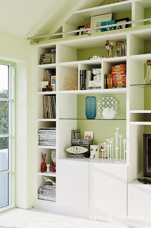 Storage Area And Study Room: Large Bookcase, Ceiling Storage