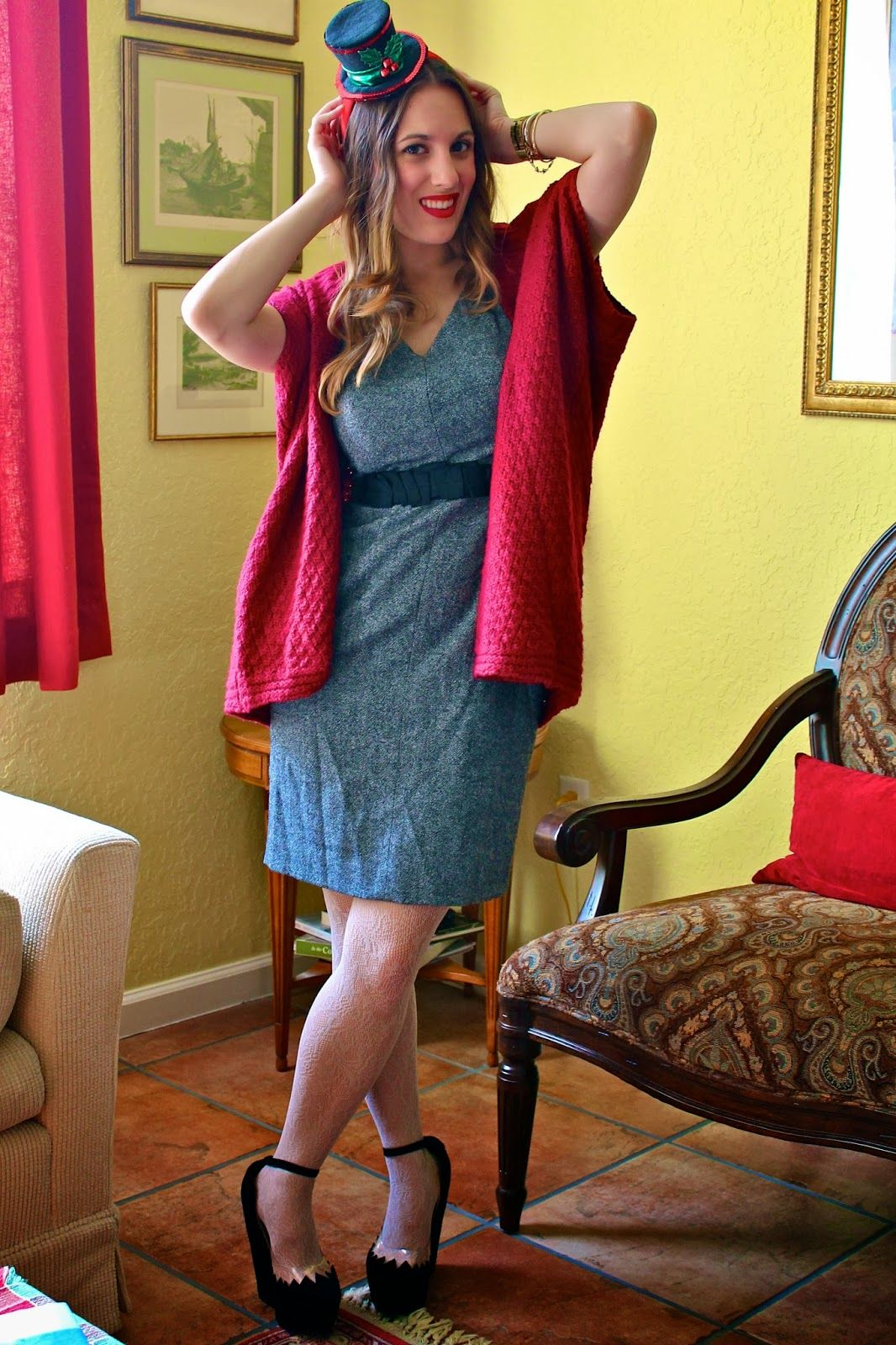 4a173d4b7a54 A classic holiday party look. Red is a fail-proof way to add some festive  color.