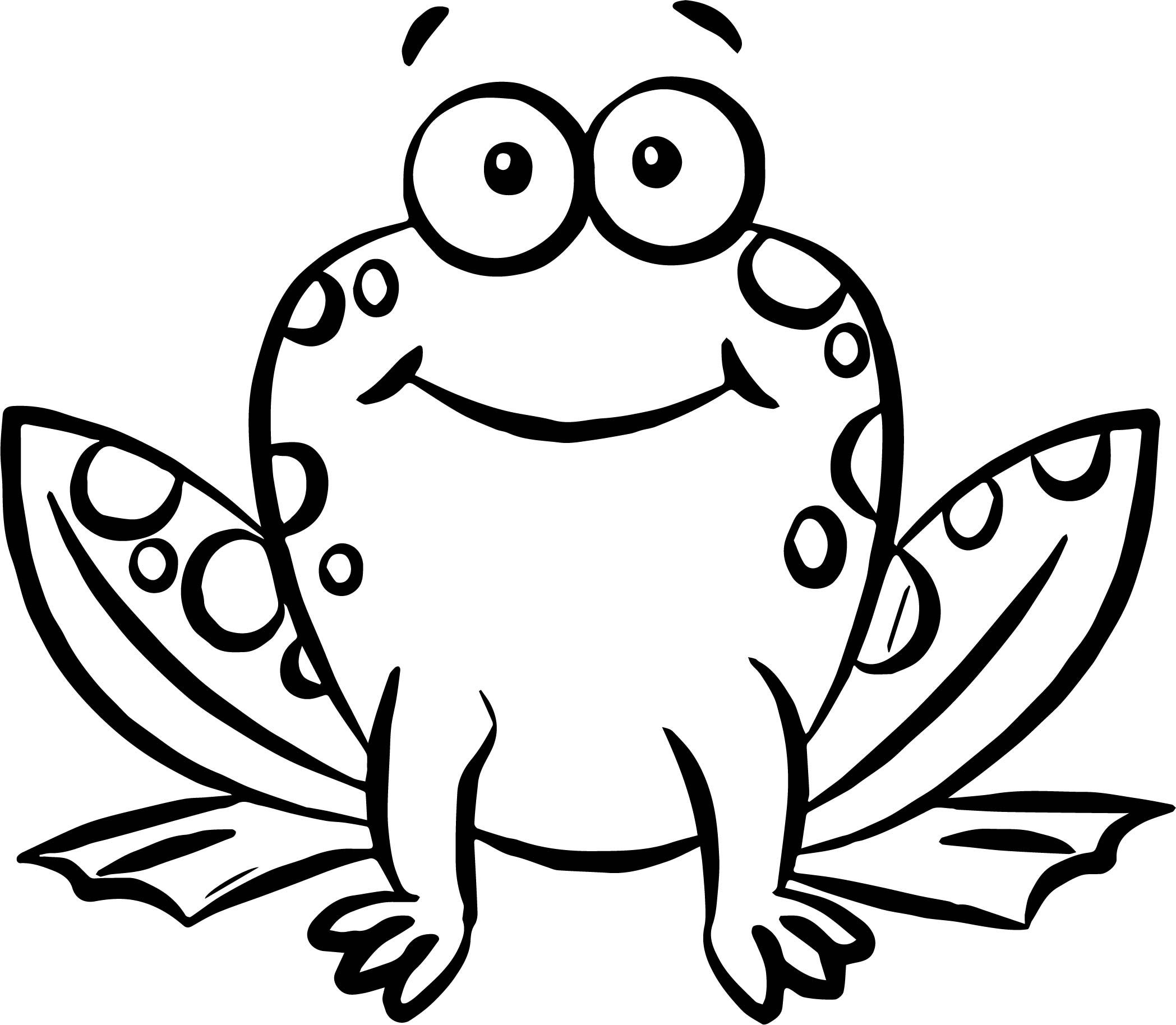 cool Cute Front Frog Coloring Page Frog coloring pages