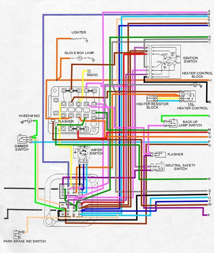 passenger compartment 1 wiring 68 firebird firebird 1968 oldsmobile 442 wiring diagram