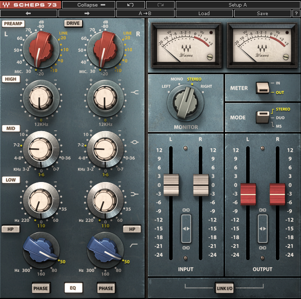 Scheps 73 Audio Interfaces Waves Audio Waves Plugins