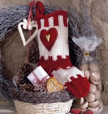 Gratis Strickanleitung für Weihnachtsstrumpf im Landhausstil ...