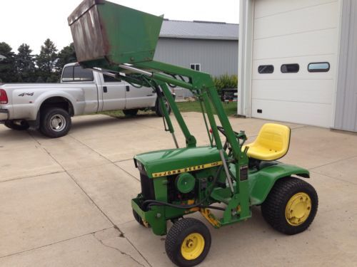1973JohnDeere140H3withJohnsonLoader John Deere lawn and