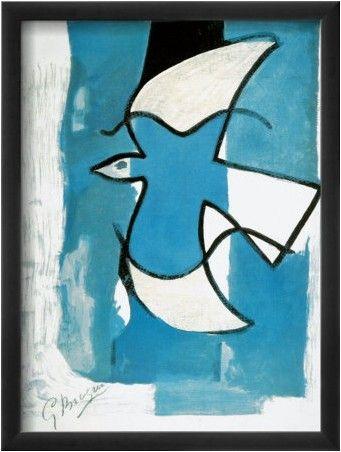 L Oiseau Bleu Et Gris Georges Braque Art Art Prints