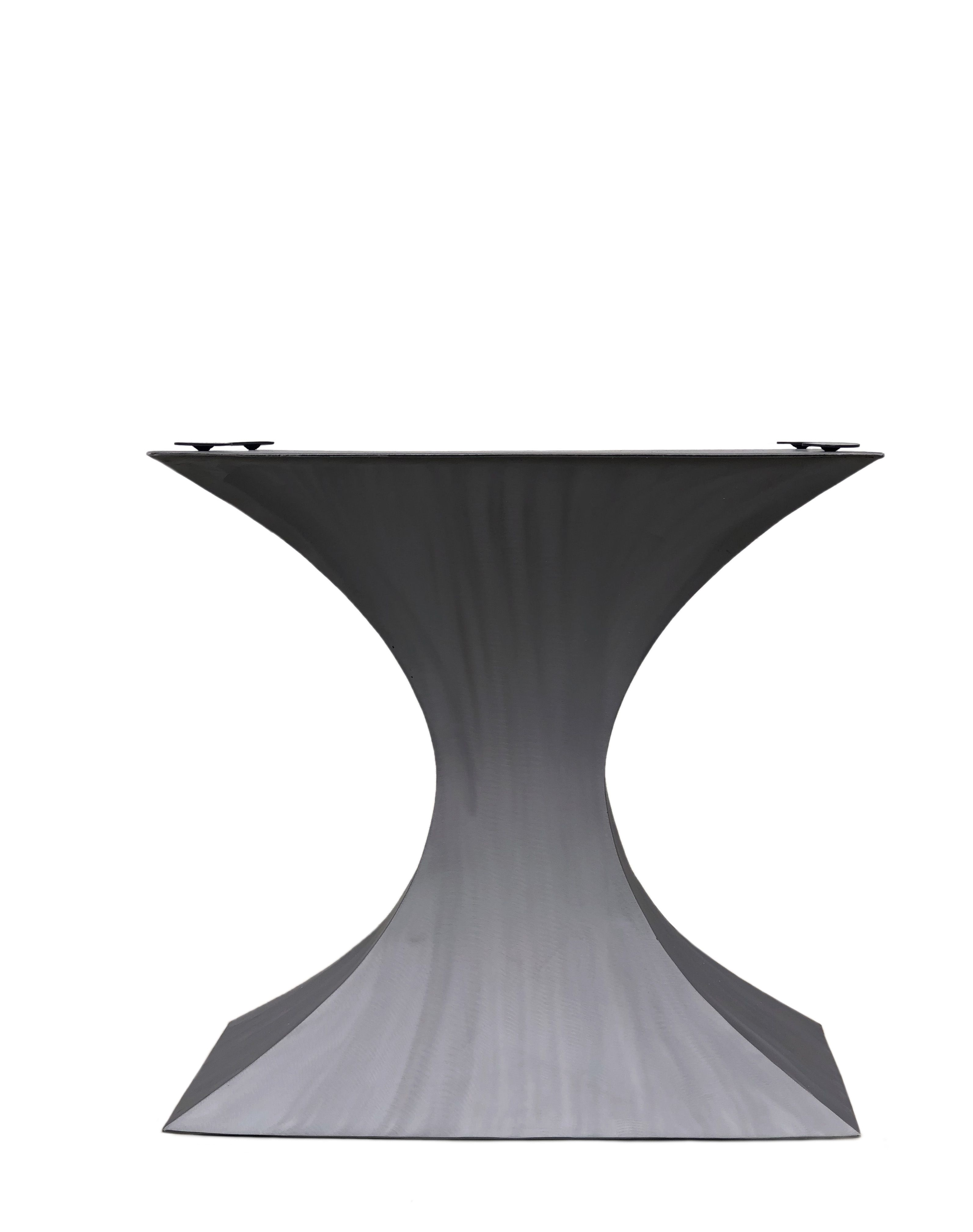 Pedestal Dining Table Metal Hourgl Base In 2019