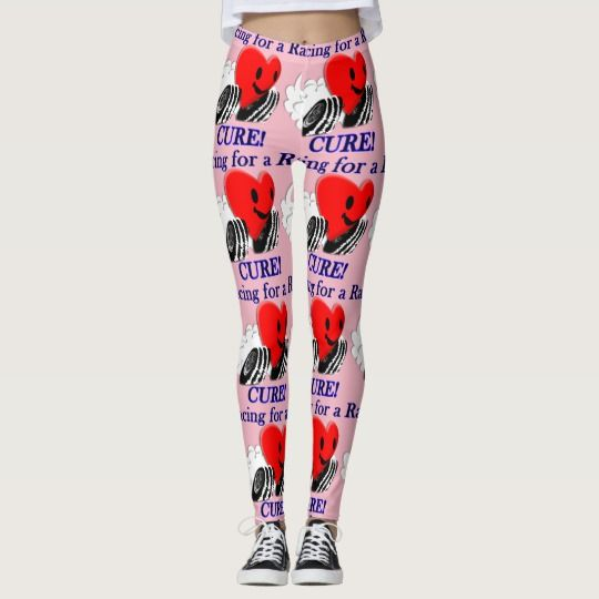 Racing for a Cure Leggings | Zazzle com | Funny Gifts for Cancer