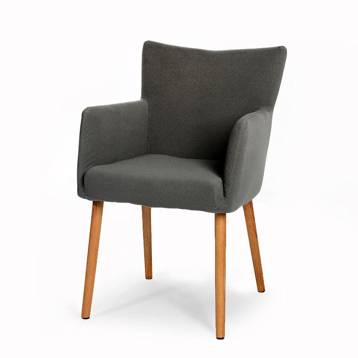 Stuhl nellie viskose elastan eiche grau ca b 48 x h 87 x t 59 cm schreibtischwand - Stuhl grau eiche ...