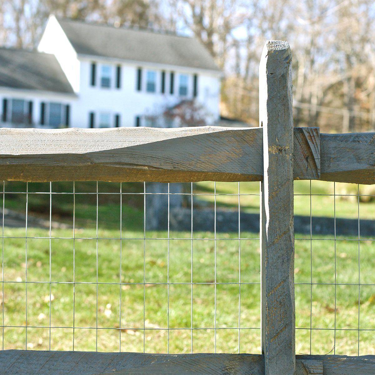 Expert Gardener Galvanized Steel Gray Welded Wire Fence 36 X 50 Roll Walmart Com In 2020 Welded Wire Fence Rustic Garden Fence Wire Fence