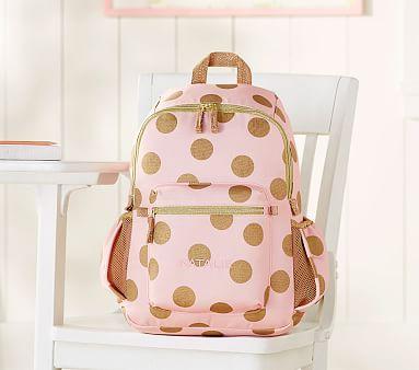 e19763c51722 Emily   Meritt Gold Dots Backpack  pbkids