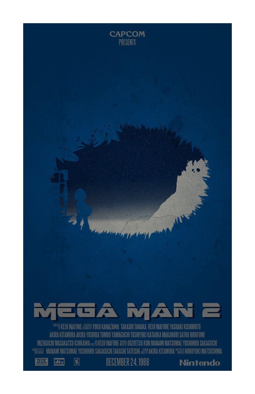 """Mega Man II Inspired Print """"Blue Bomber"""". via Etsy."""