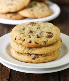 XXL Soft Baked Chocolate Chip Cookies - the secret to thick, chewy, extra large chocolate chip cookies!