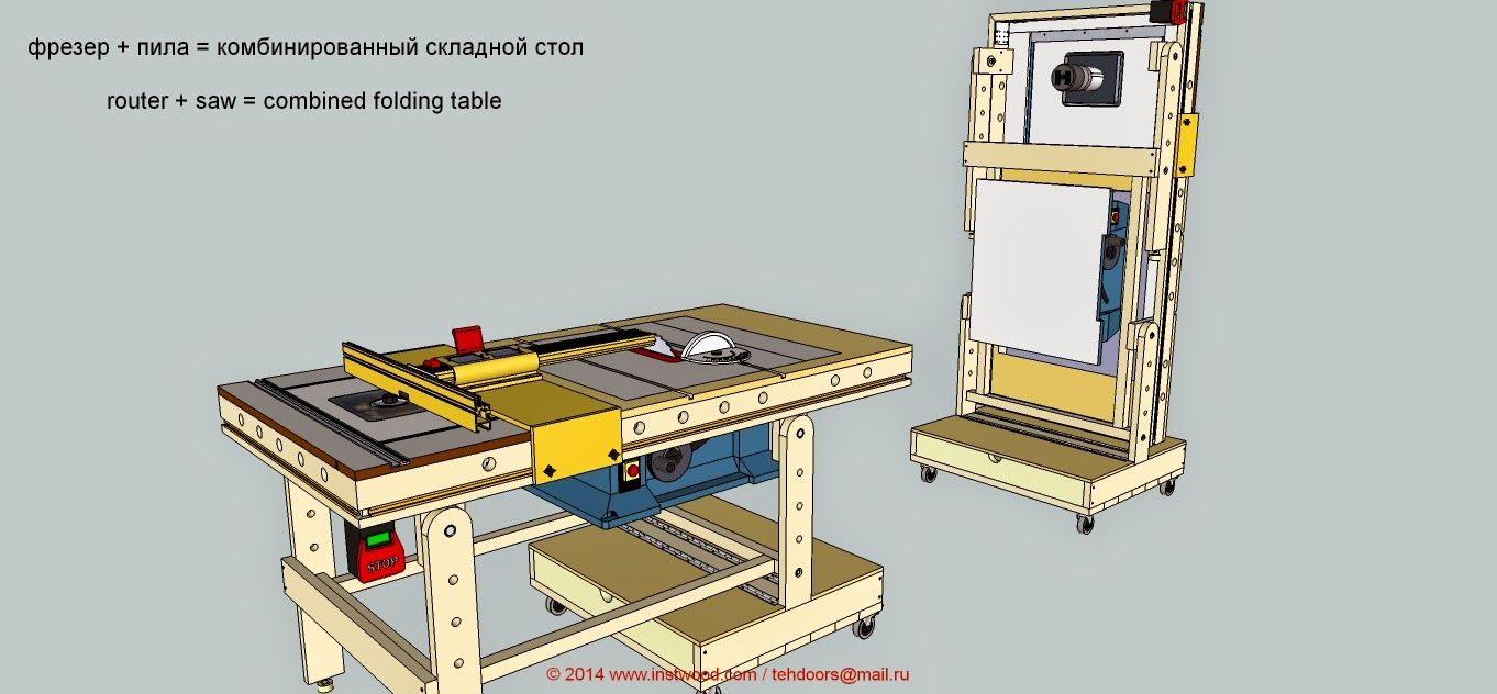 Incra bosch table saw workbench woodworking tools for Table saw workbench woodworking plans