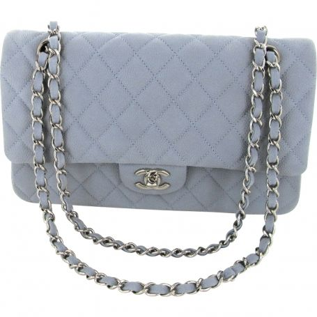 7ba2c3ba95f7 LINEN BLUE / PEARL GREY CAVIAR LEATHER TIMELESS by: CHANEL @Vestiaire  Collective (Global)