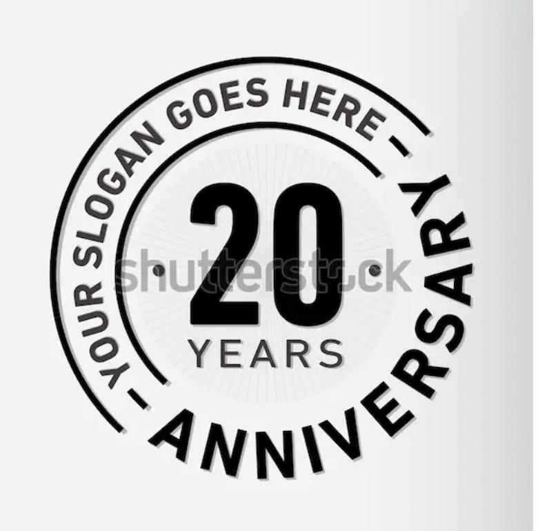 Pin by Kimberly Smith on Anniversary Logo 20 year