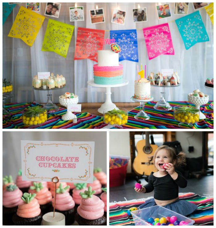 Colorful First Birthday Fiesta Via Karas Party Ideas A Is Always Great