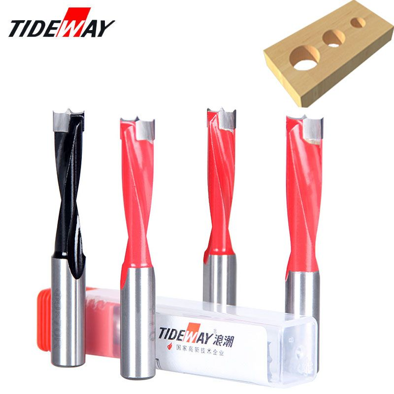 Right Rotary TIDEWAY Industrial Carbide Tipped Hinge Boring Bit for Rows Drill Machine 11mm Cutting Dia 70mm Length