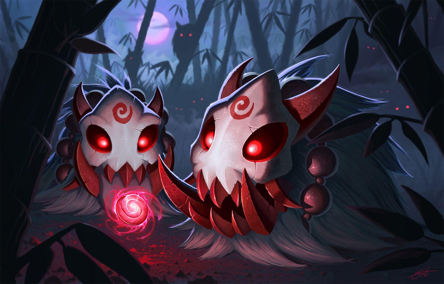 Resultado de imagem para lua sangrenta league of legends Poro