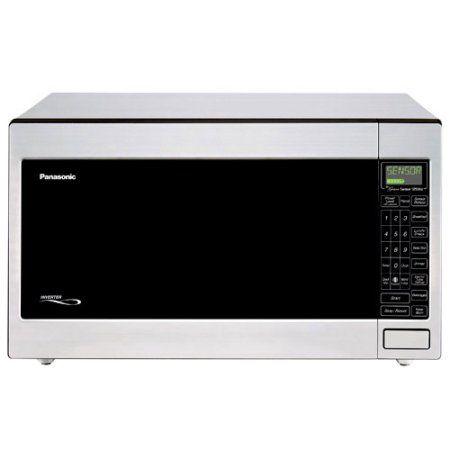 Panasonic 2 2 Cu Ft 1250 Watt Microwave Oven Stainless Diyhomedecor Panasonic Microwave Oven Panasonic Microwave Stainless Steel Microwave