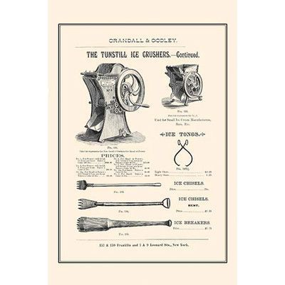 Buyenlarge 'The Tunstill Ice Crusher Continued' Vintage Advertisement Size: