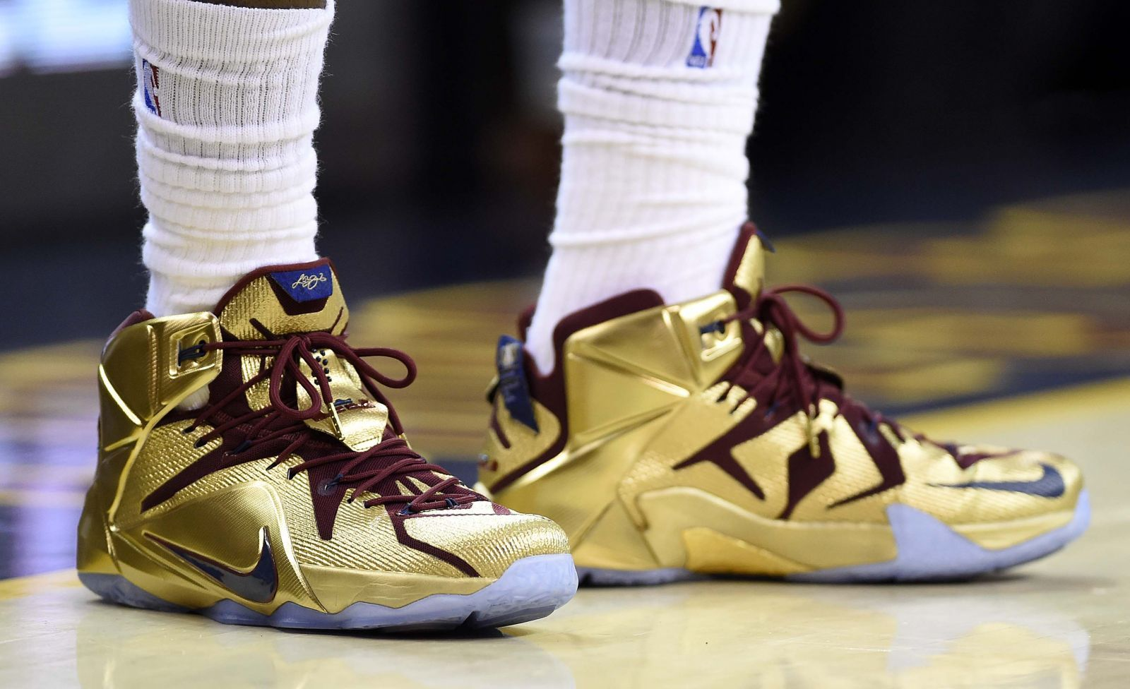 dcccef32b02 SoleWatch  LeBron James Going for Gold in Game 6 Sneakers