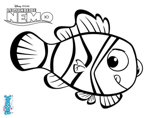 Un joli coloriage sur le monde de Dory. Viens colorier Nemo le ...