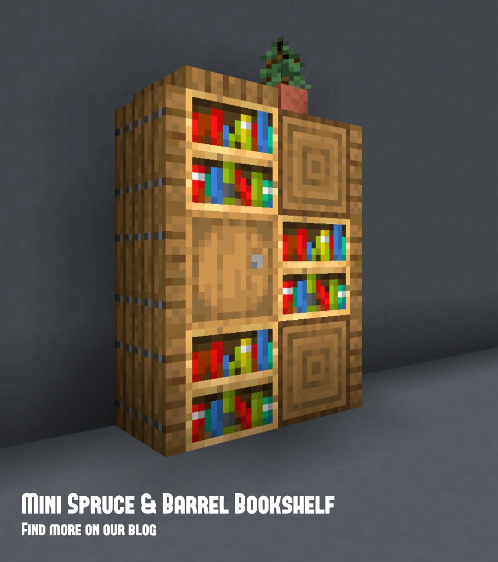 Small Minecraft Bookshelf