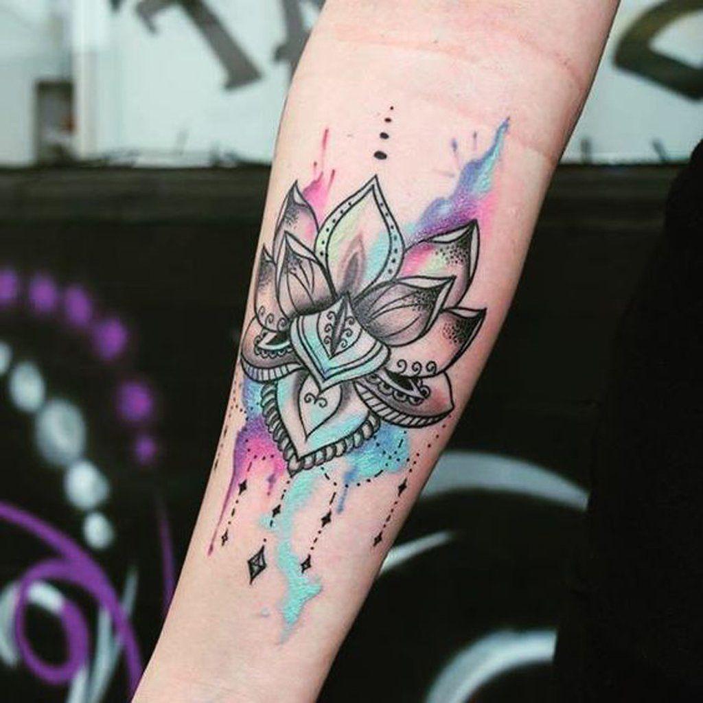 Watercolor Geometric Mandala Tribal Tattoo Mybodiart Com