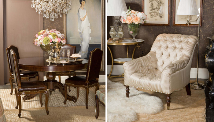 Ralph Lauren Heiress Collection: Cannes Dugiere Dining Chair Package And  Mayfair Tufted Chair