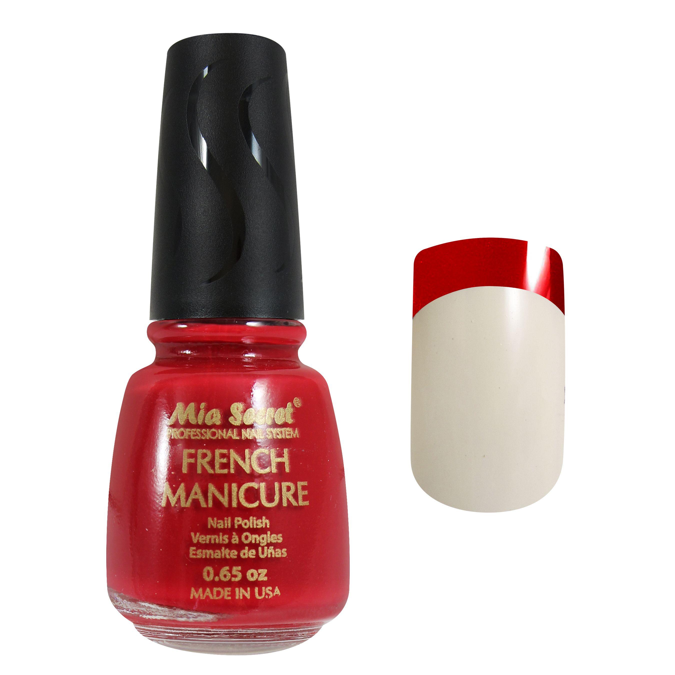 ROJO AVE | French Manicure Nail Polish | #MiaSecret #FM01 | Mia ...