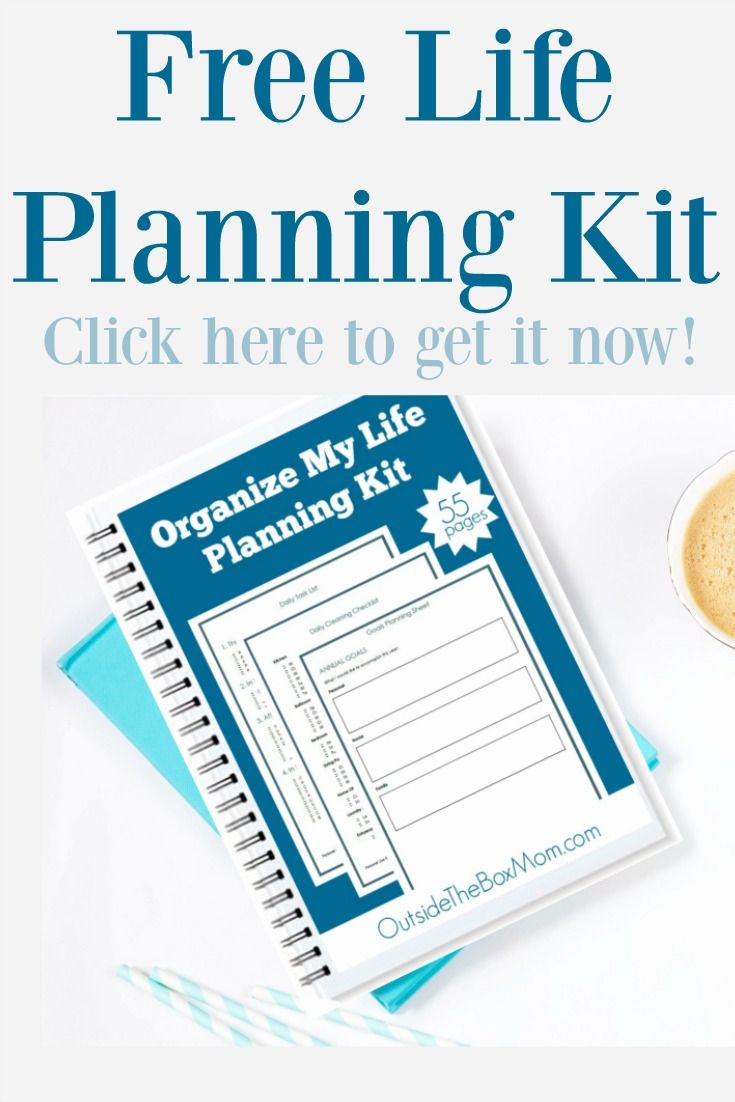 Organize My Life Planning Kit Working Mom Blog Outside The Box