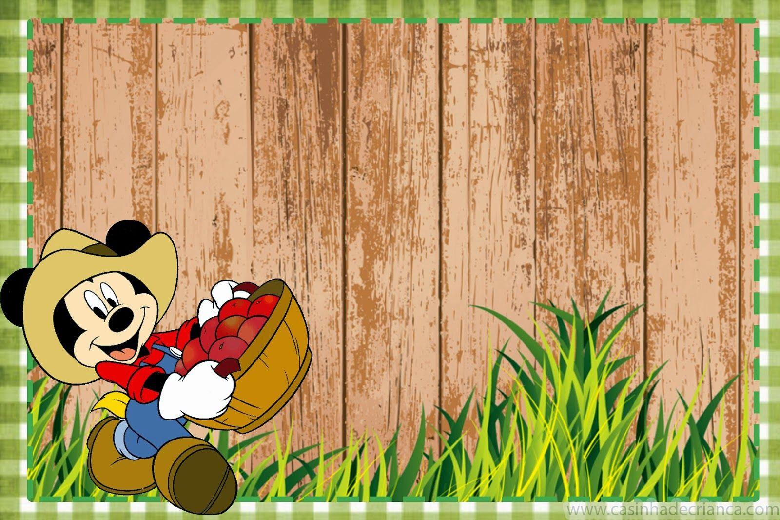 Kit de Mickey Granjero para Imprimir Gratis. | Ideas y material ...