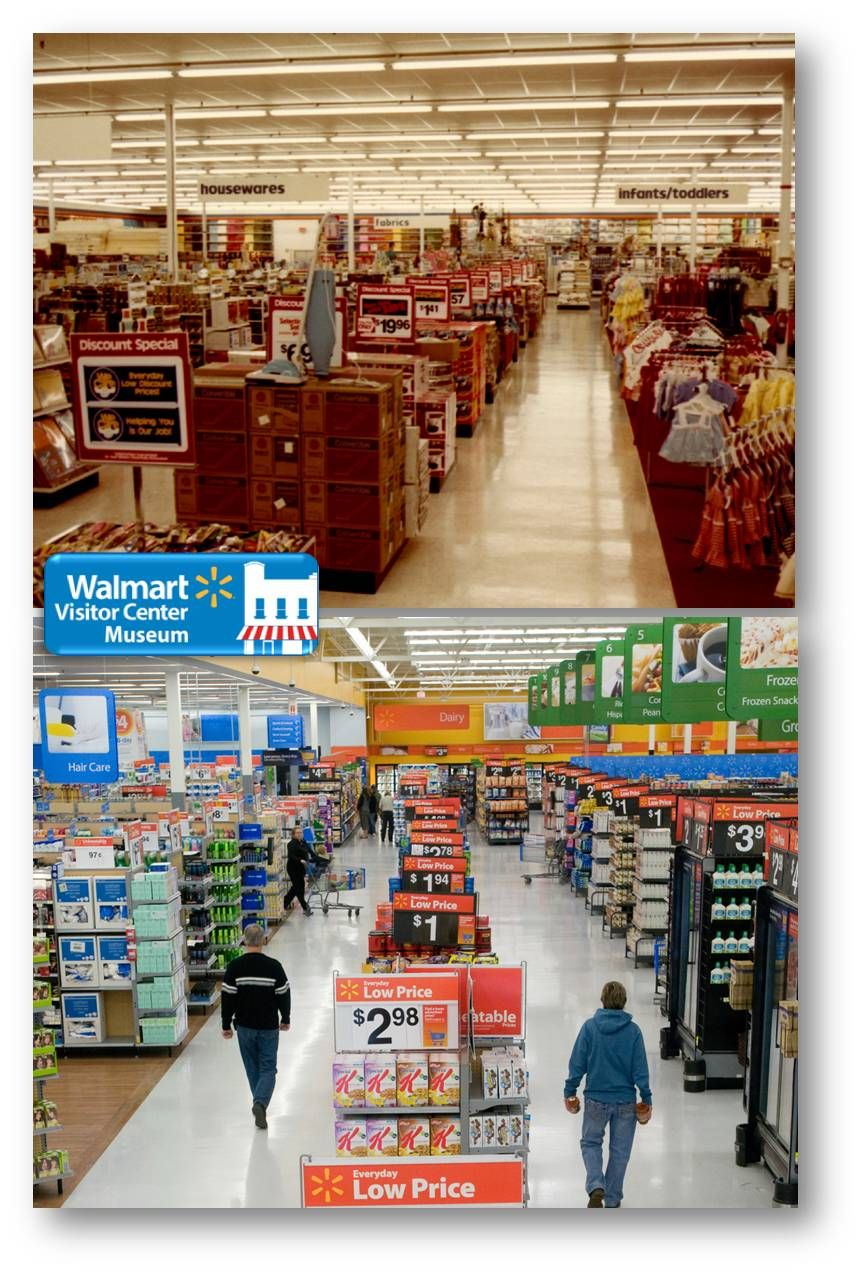 Walmart Then And Now Action Alley A Pathway To Remind Customers