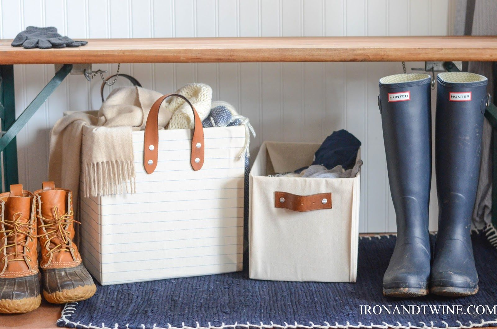 DIY Belt Strap Bins