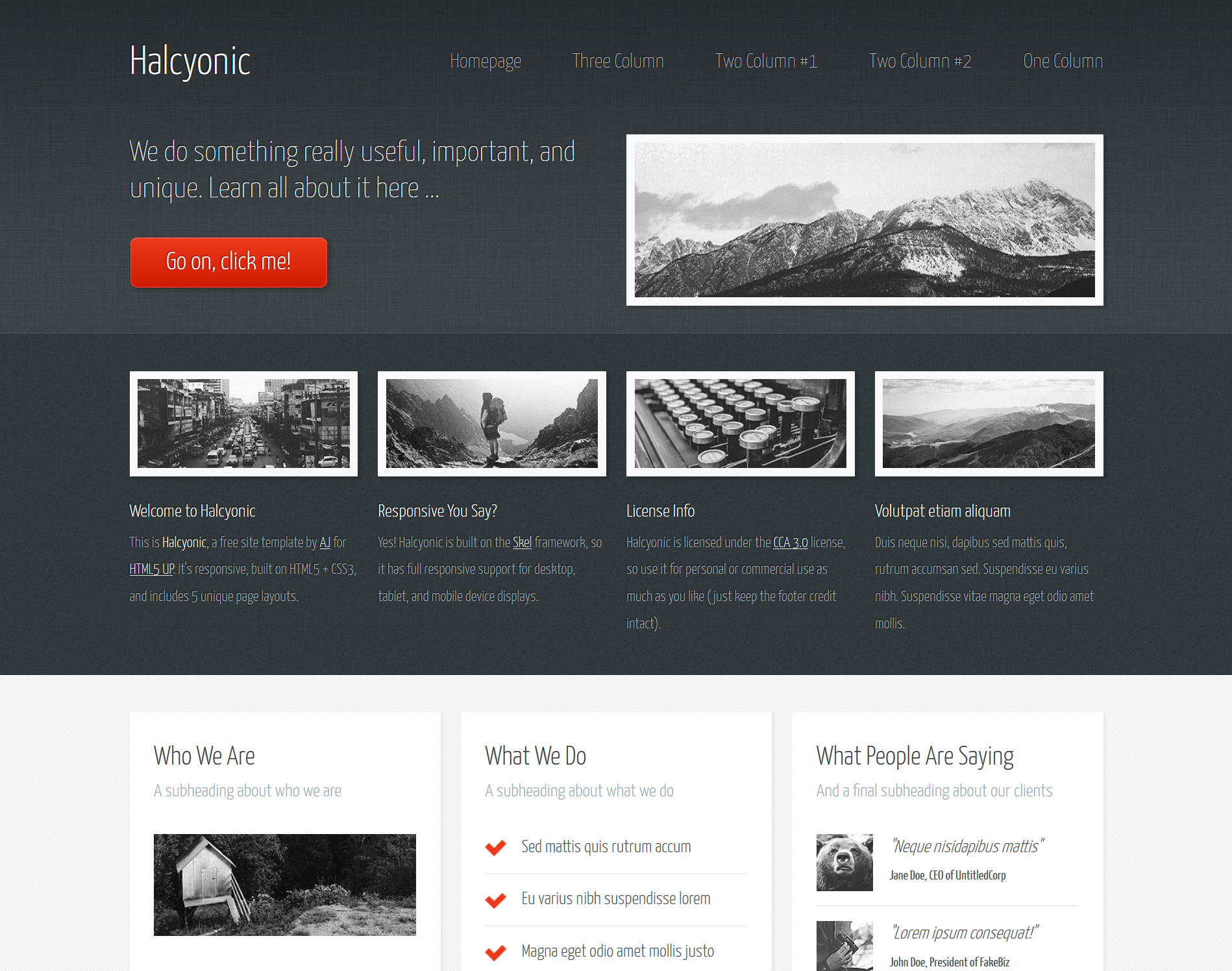 We have covered a collection of best free HTML5 templates which ...